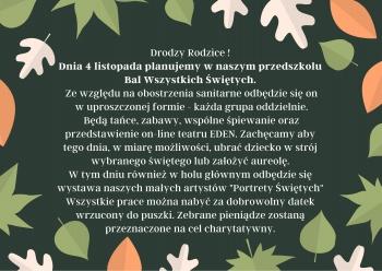 Brązowa Jesień Liście Dożynki Kartka (2)