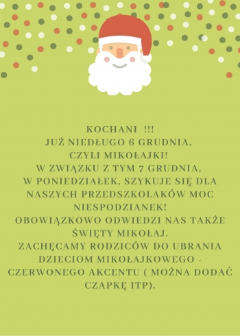 Green Red White Santa Claus Illustration Holiday Event Flyer